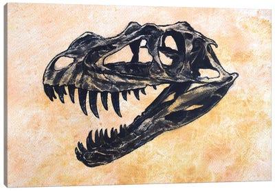 Ceratosaurus Dinosaur Skull Canvas Art Print