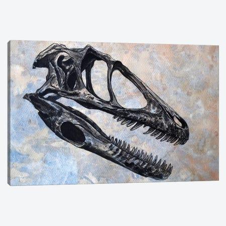 Deinonychus Dinosaur Skull Canvas Print #TRK2616} by Harm Plat Canvas Artwork