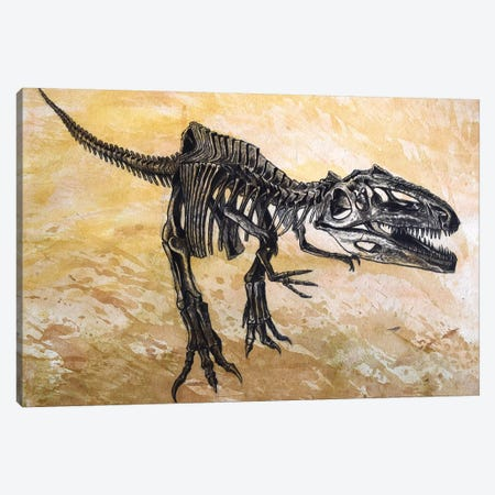 Giganotosaurus Dinosaur Skeleton Canvas Print #TRK2618} by Harm Plat Canvas Art Print