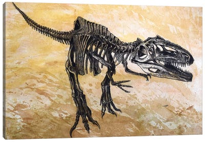 Giganotosaurus Dinosaur Skeleton Canvas Art Print