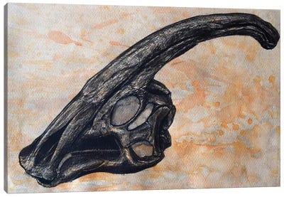Parasaurolophus Walkerii Dinosaur Skull Canvas Art Print