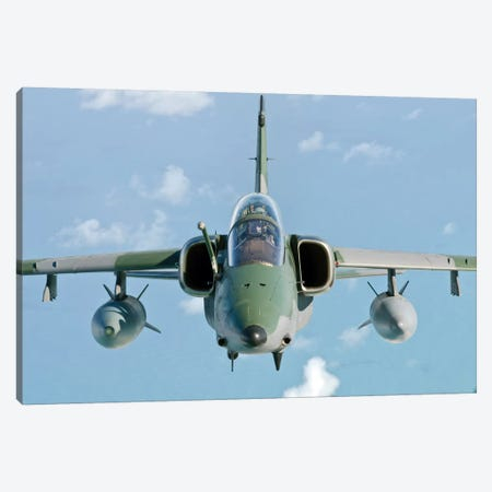 A Brazilian Air Force Embraer A-1B Soars Through The Sky Over Brazil I Canvas Print #TRK262} by Giovanni Colla Canvas Art Print