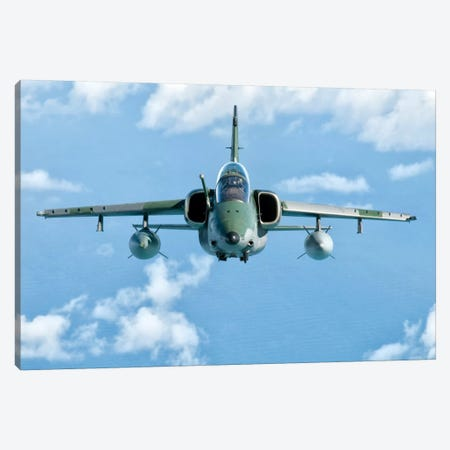 A Brazilian Air Force Embraer A-1B Soars Through The Sky Over Brazil II Canvas Print #TRK263} by Giovanni Colla Canvas Art Print