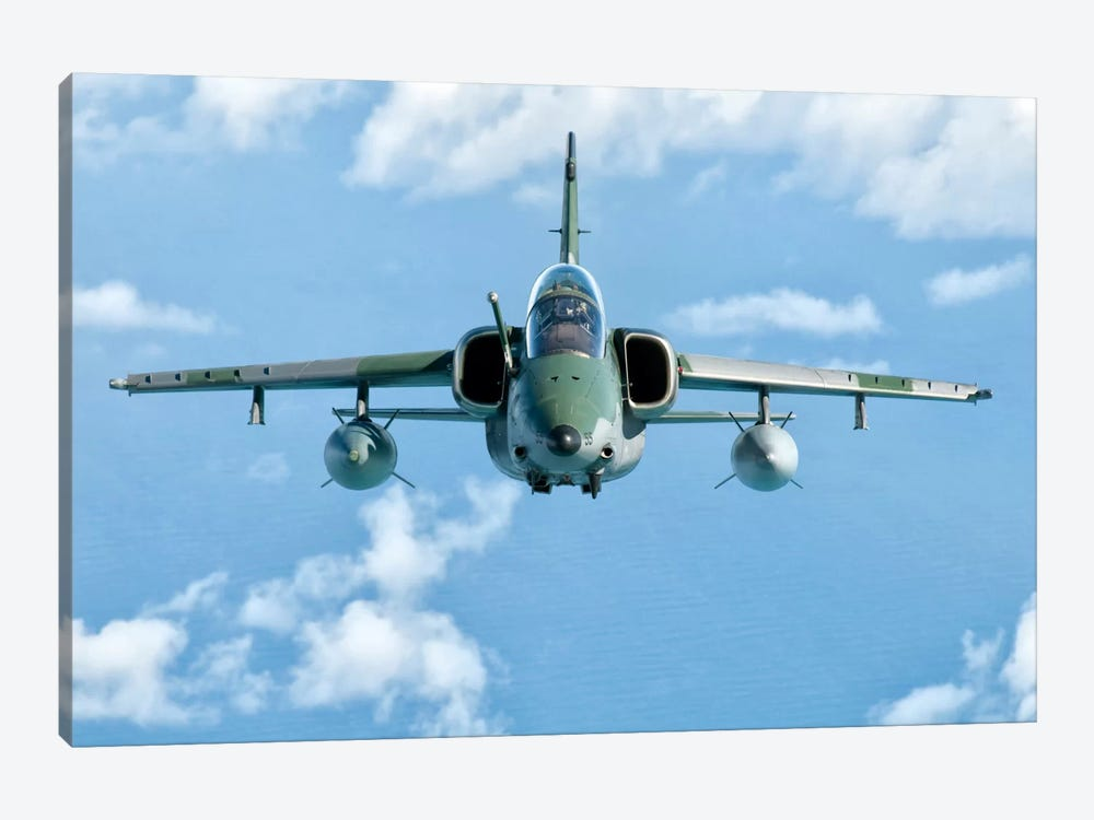 A Brazilian Air Force Embraer A-1B Soars Through The Sky Over Brazil II by Giovanni Colla 1-piece Art Print