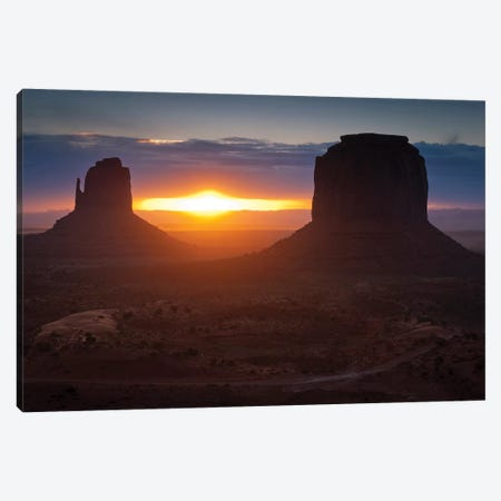 The Famous Mitten Formations In Monument Valley, Utah Canvas Print #TRK2645} by John Davis Canvas Art Print