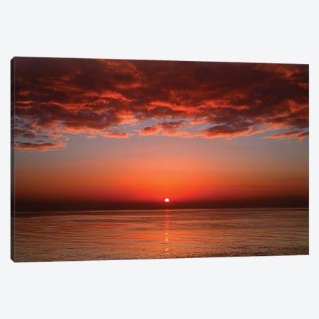 A Layer Of Clouds Is Lit By The Rising Sun Over Rio De La Plata, Buenos Aires, Argentina Canvas Print #TRK2649} by Luis Argerich Canvas Art