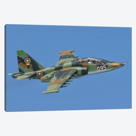 A Bulgarian Air Force Su-25 In Flight Over Bulgaria Canvas Print #TRK264} by Giovanni Colla Canvas Art