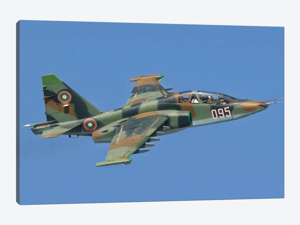 A Bulgarian Air Force Su-25 In Flight Over Bulgaria by Giovanni Colla 1-piece Canvas Wall Art
