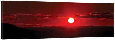 A Panoramic Image Where Clouds Mimic Solar Prominences Canvas Art Print