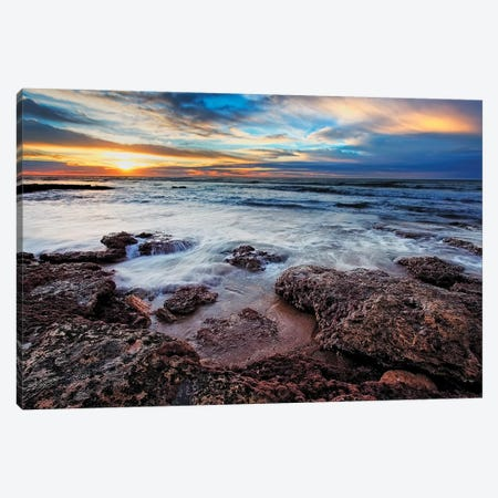 A Seascape At Sunrise From Miramar, Argentina Canvas Print #TRK2651} by Luis Argerich Canvas Print