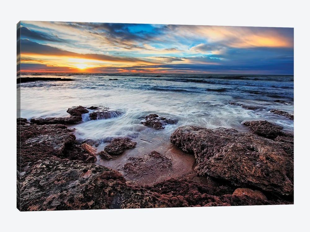 A Seascape At Sunrise From Miramar, Argentina by Luis Argerich 1-piece Canvas Art Print