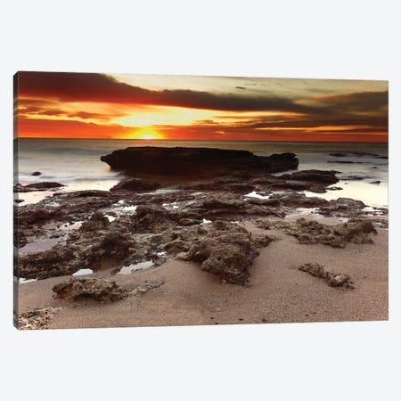 Sunrise Over The Seascape Of Miramar, Argentina Canvas Print #TRK2653} by Luis Argerich Art Print