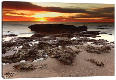 Sunrise Over The Seascape Of Miramar, Argentina Canvas Art Print