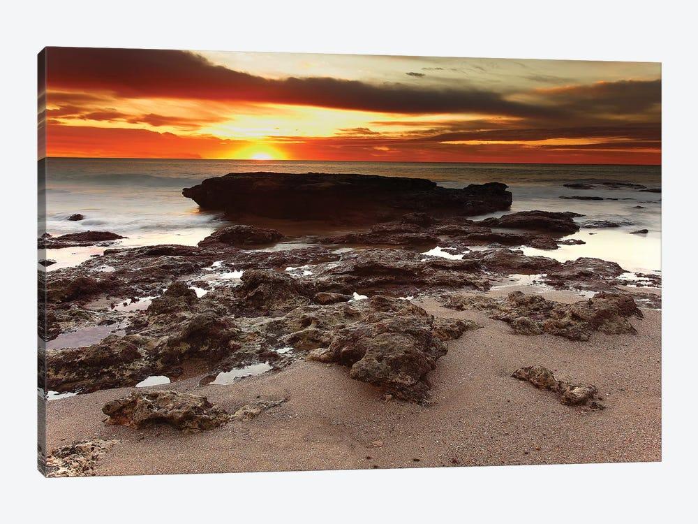 Sunrise Over The Seascape Of Miramar, Argentina by Luis Argerich 1-piece Canvas Print