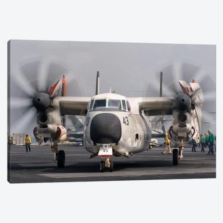 A C-2A Greyhound Aboard USS George H.W. Bush Canvas Print #TRK265} by Giovanni Colla Canvas Artwork