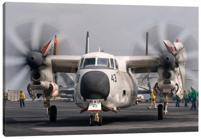 A C-2A Greyhound Aboard USS George H.W. Bush Canvas Art Print
