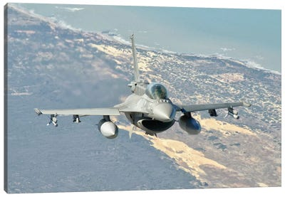 A Chilean Air Force F-6D Block 50 Over Brazil Canvas Art Print