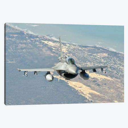 A Chilean Air Force F-6D Block 50 Over Brazil Canvas Print #TRK266} by Giovanni Colla Canvas Artwork