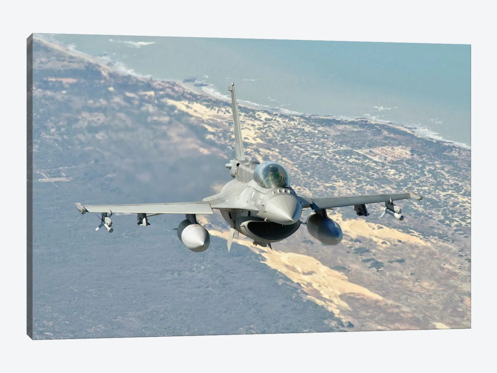A Chilean Air Force F-6D Block 50 Over Brazil by Giovanni Colla 1-piece Canvas Artwork