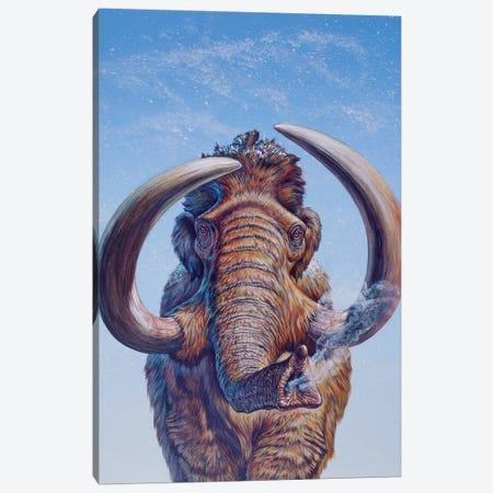 Woolly Mammoth Charging, Pleistocene Epoch 3-Piece Canvas #TRK2682} by Mark Hallett Canvas Art
