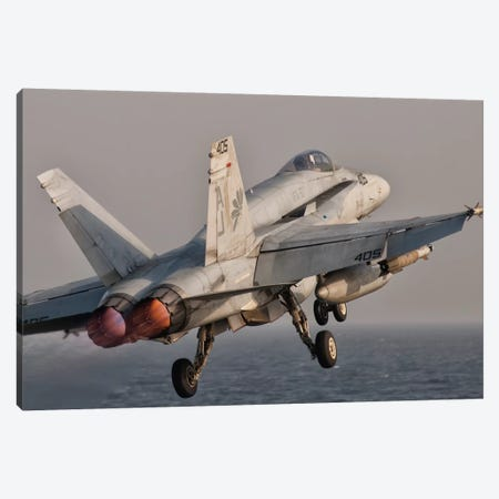 A F/A-18C Hornet Taking Off From USS George H.W. Bush Canvas Print #TRK268} by Giovanni Colla Canvas Art Print