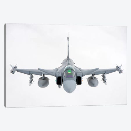A Hungarian Air Force JAS-39 Gripen Over Lithuania Canvas Print #TRK269} by Giovanni Colla Canvas Art Print