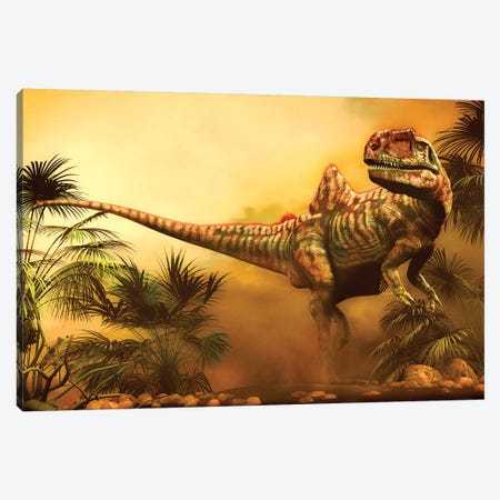Concavenator Was A Theropod Dinosaur From The Early Cretaceous Period 3-Piece Canvas #TRK2724} by Philip Brownlow Canvas Artwork