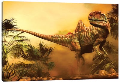 Concavenator Was A Theropod Dinosaur From The Early Cretaceous Period Canvas Art Print