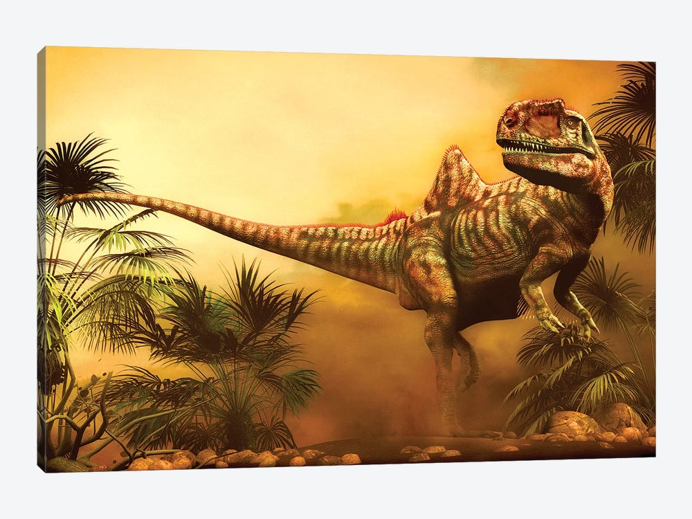 Concavenator Was A Theropod Dinosaur From The Early Cretaceous Period by Philip Brownlow 1-piece Canvas Art