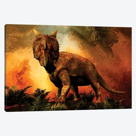 Einiosaurus Was A Ceratopsian Dinosaur From The Upper Cretaceous Period Canvas Print #TRK2726} by Philip Brownlow Canvas Wall Art