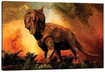 Einiosaurus Was A Ceratopsian Dinosaur From The Upper Cretaceous Period Canvas Art Print