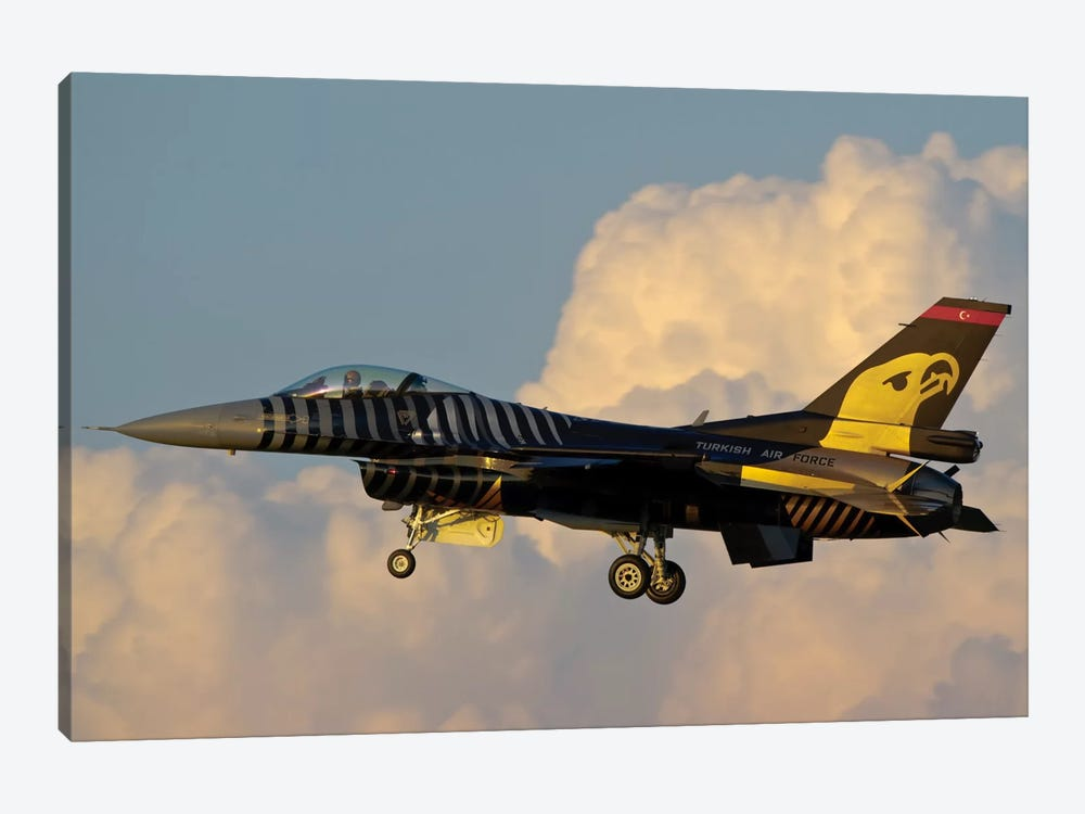 A Solo Turk F-16 Of The Turkish Air Force With A Custom Paint Scheme by Giovanni Colla 1-piece Canvas Art Print