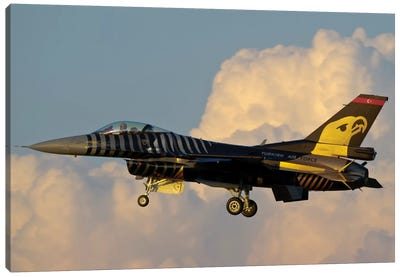 A Solo Turk F-16 Of The Turkish Air Force With A Custom Paint Scheme Canvas Art Print