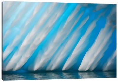 Abstract Of Ice Formation On Melchior Islands, Antarctic Peninsula, Antarctica Canvas Art Print