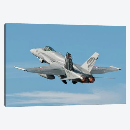 A Swiss Air Force F/A-18C During TLP In Spain Canvas Print #TRK273} by Giovanni Colla Canvas Art