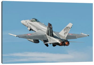 A Swiss Air Force F/A-18C During TLP In Spain Canvas Art Print