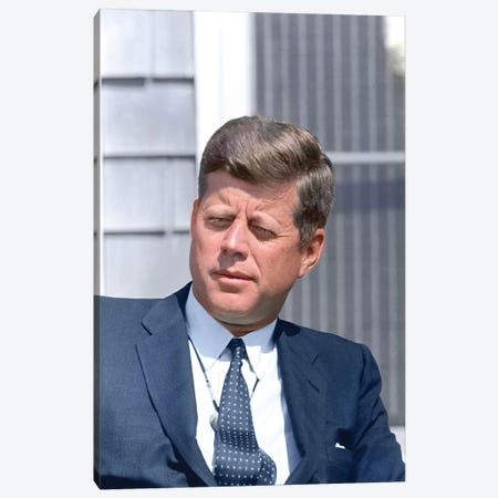 Digitally Restored Photo Of President John F Kennedy Canvas Print #TRK2749} by Stocktrek Images Canvas Print