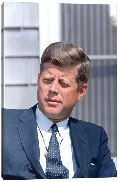 Digitally Restored Photo Of President John F Kennedy Canvas Art Print