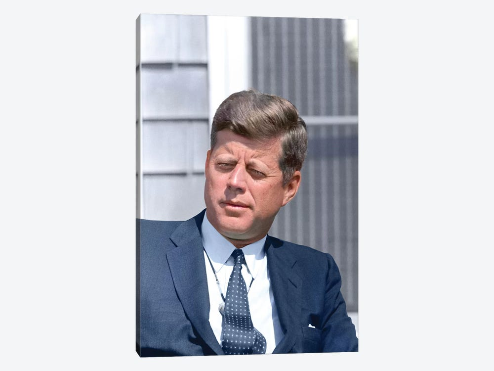 Digitally Restored Photo Of President John F Kennedy by Stocktrek Images 1-piece Canvas Print