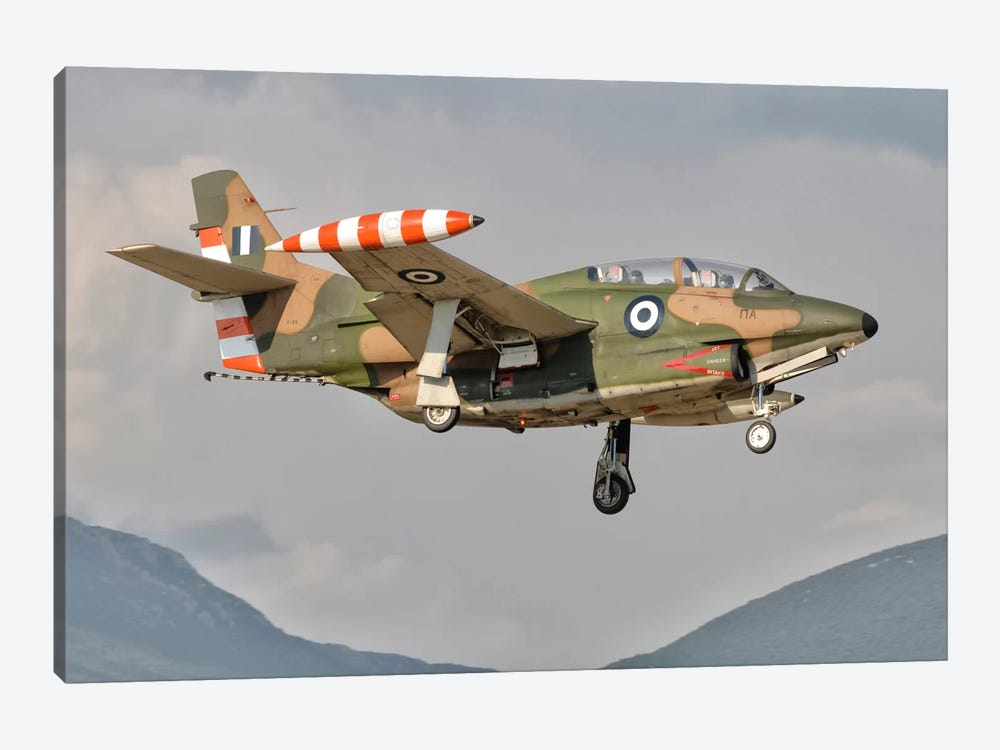 A T-2 Buckeye Of The Hellenic Air Force At Kalamata Air Base, Greece by Giovanni Colla 1-piece Canvas Art Print