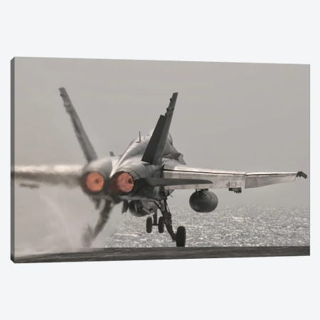 An F/A-18C Hornet Takes Off From USS George H.W. Bush Canvas Print #TRK275} by Giovanni Colla Canvas Art Print