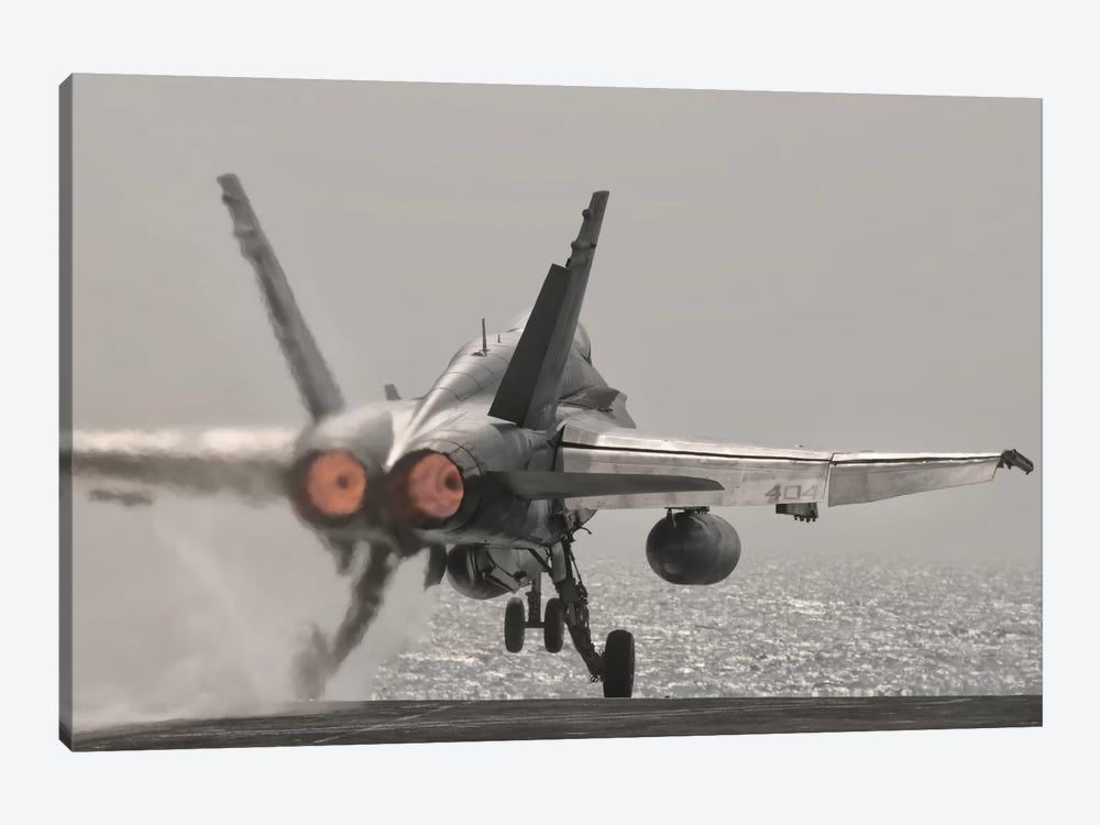 An F/A-18C Hornet Takes Off From USS George H.W. Bush by Giovanni Colla 1-piece Canvas Art
