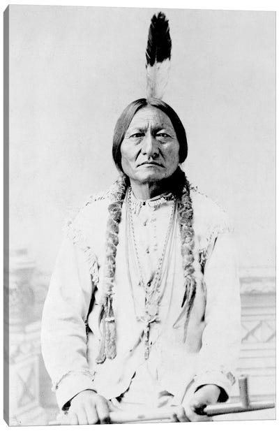 Sitting Bull, A Hunkpapa Lakota Tribal Chief Canvas Art Print
