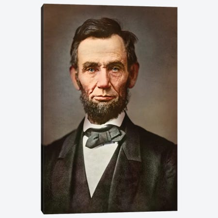 Vintage Portrait Of President Abraham Lincoln Canvas Print #TRK2765} by Stocktrek Images Canvas Artwork