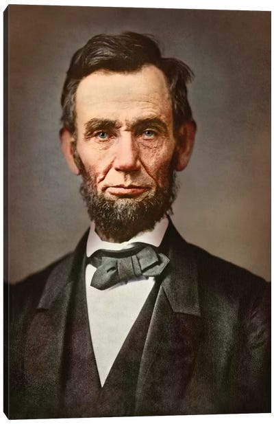Vintage Portrait Of President Abraham Lincoln Canvas Art Print