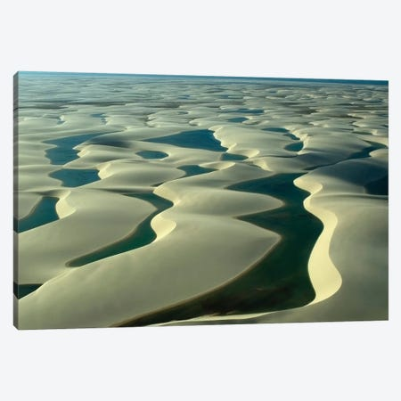Aerial Image Of Rain Ponds In Between Sand Dunes, Brazil Canvas Print #TRK2776} by VWPics Canvas Print