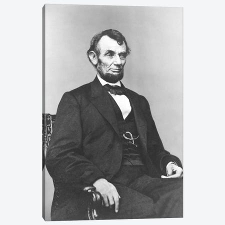 Restored Civil War Era Painting Of President Abraham Lincoln Canvas Print #TRK2788} by John Parrot Canvas Art Print