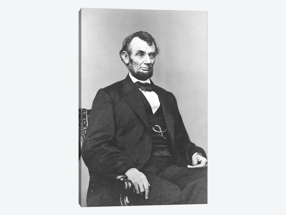 Restored Civil War Era Painting Of President Abraham Lincoln by John Parrot 1-piece Canvas Art
