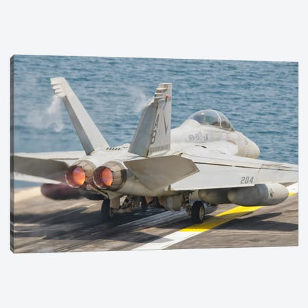 An F/A-18F Super Hornet Taking Off Canvas Print #TRK278} by Giovanni Colla Canvas Artwork