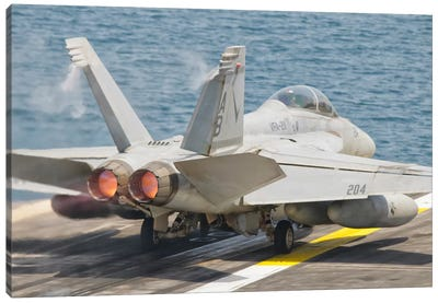 An F/A-18F Super Hornet Taking Off Canvas Art Print